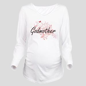 Godmother Artistic D Long Sleeve Maternity T-Shirt