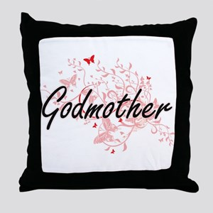 Godmother Artistic Design with Butter Throw Pillow
