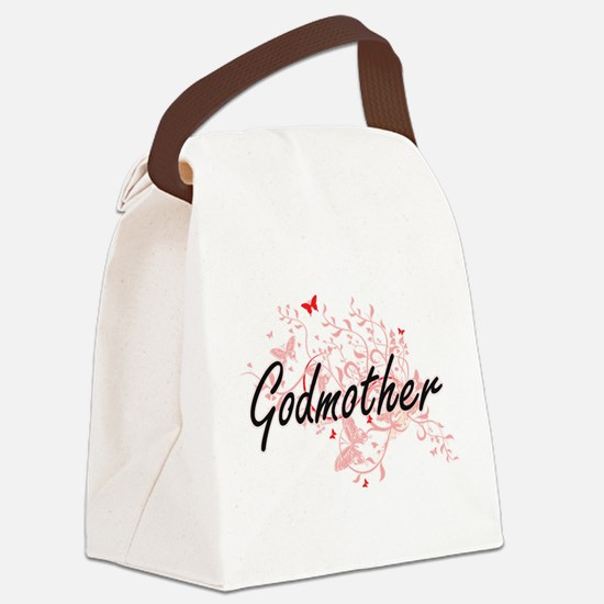 Godmother Artistic Design with Bu Canvas Lunch Bag