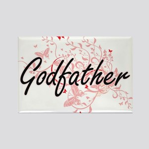 Godfather Artistic Design with Butterflies Magnets