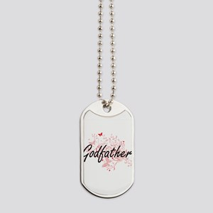 Godfather Artistic Design with Butterflie Dog Tags