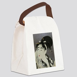 Woman-Wiping-her-face-Utamaro-Woo Canvas Lunch Bag