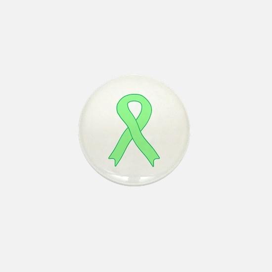 Light Green Ribbon Mini Button