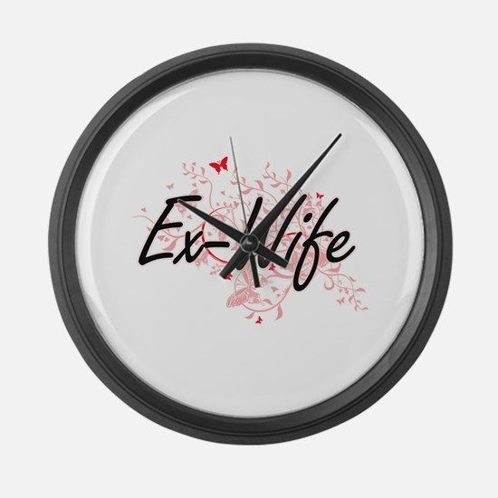 Ex-Wife Artistic Design with Butt Large Wall Clock
