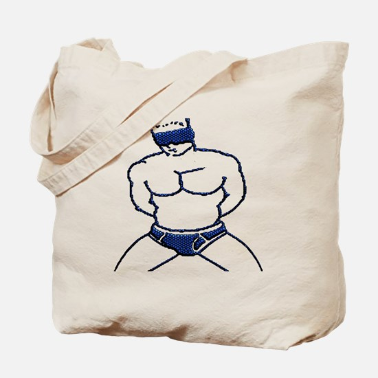 BLINDFOLDED SUBMISSION-BLUE Tote Bag