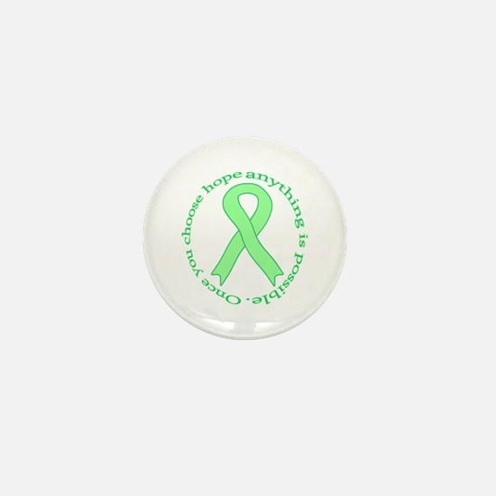 Lt. Green Hope Mini Button