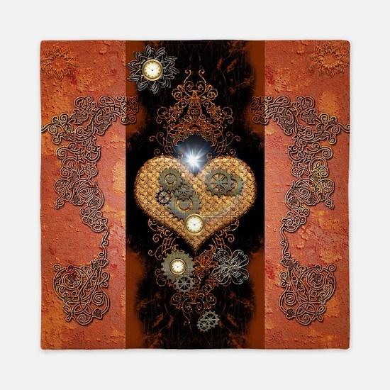 Steampunk, wonderful heart Queen Duvet