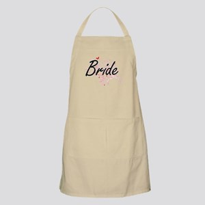 Bride Artistic Design with Butterflies Apron
