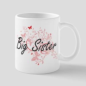 Big Sister Artistic Design with Butterflies Mugs