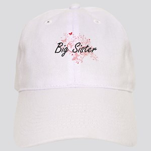 Big Sister Artistic Design with Butterflies Cap