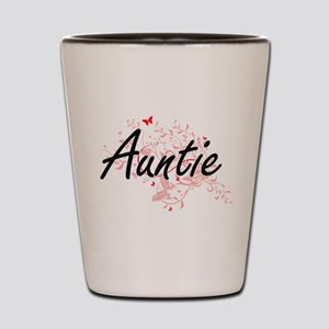 Auntie Artistic Design with Butterflies Shot Glass
