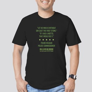 LET HE WHO IS... Men's Fitted T-Shirt (dark)