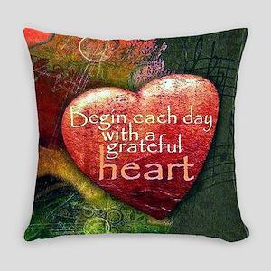 Begin Each Day Everyday Pillow