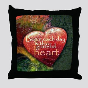 Begin Each Day Throw Pillow