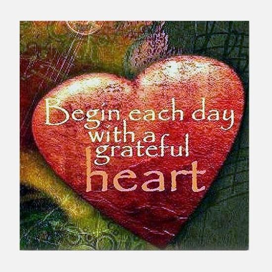Begin Each Day Tile Coaster