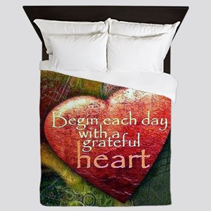 Begin Each Day Queen Duvet