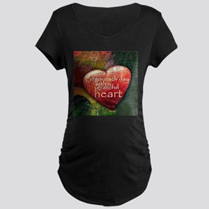 Begin Each Day Maternity T-Shirt