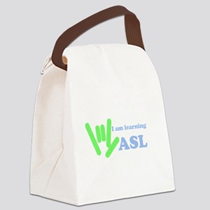 asl_hand_learning Canvas Lunch Bag