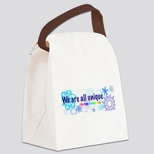 snowflakes_autism Canvas Lunch Bag