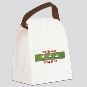 IEP Ducks in a Row Canvas Lunch Bag
