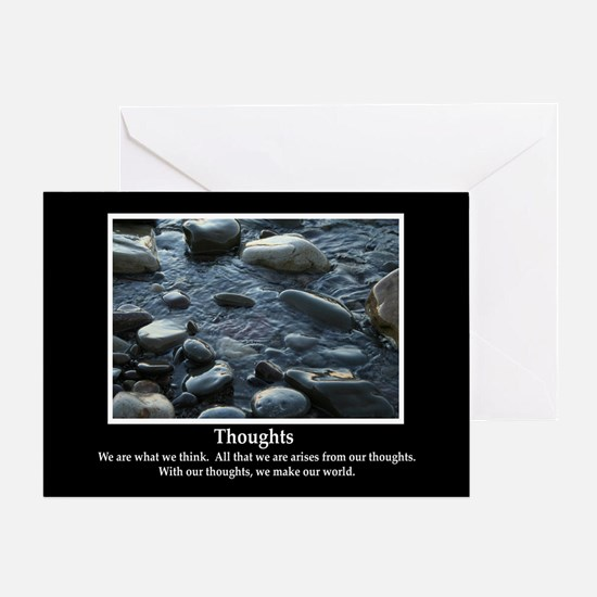 Thoughts Inspiring Greeting Card