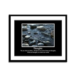Thoughts Inspiring Framed Panel Print