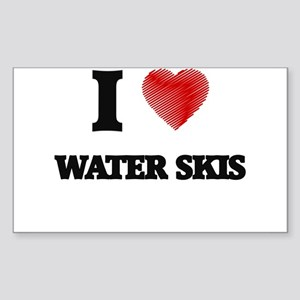 I love Water Skis Sticker