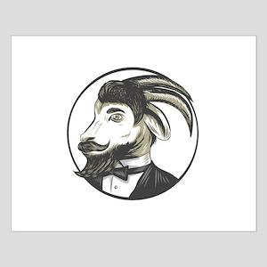 Goat Beard Tie Tuxedo Circle Drawing Posters