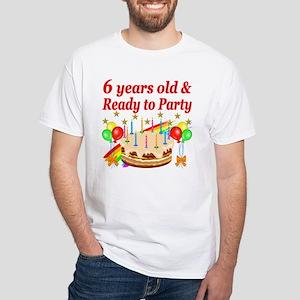 6TH BIRTHDAY White T-Shirt