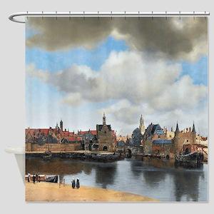 Vermeer Delft Shower Curtain