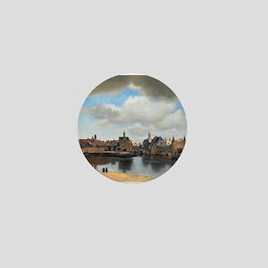 Vermeer Delft Mini Button