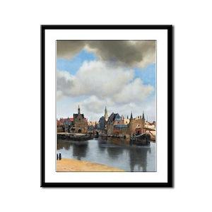 Vermeer Delft Framed Panel Print