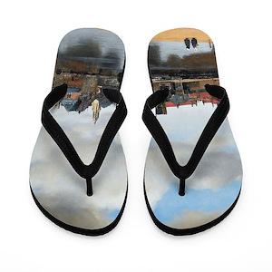 52f20d269307 Delft Flip Flops - CafePress