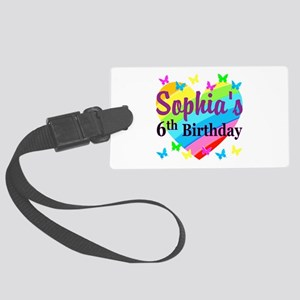 PERSONALIZED 6TH Large Luggage Tag