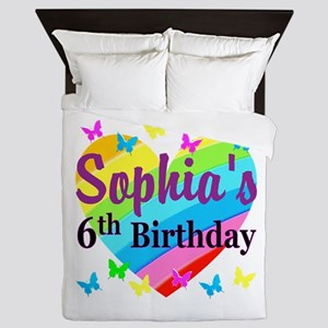 PERSONALIZED 6TH Queen Duvet