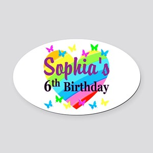 PERSONALIZED 6TH Oval Car Magnet