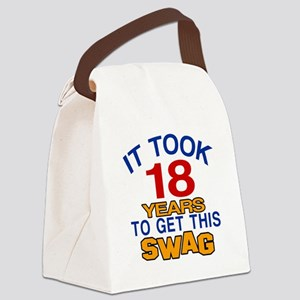 It Took 18 Years To Get This Swag Canvas Lunch Bag