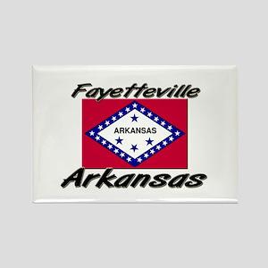 Fayetteville Arkansas Rectangle Magnet