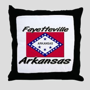 Fayetteville Arkansas Throw Pillow