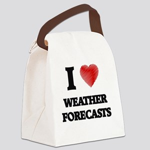 I love Weather Forecasts Canvas Lunch Bag