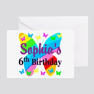 PERSONALIZED 6TH Greeting Card