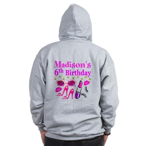PERSONALIZED 6TH Zip Hoodie
