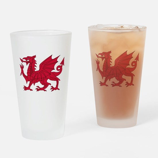 Welsh Dragon Drinking Glass