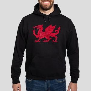 Welsh Dragon Hoodie (dark)