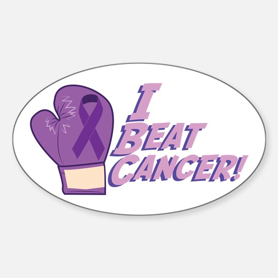 I Beat Cancer Decal