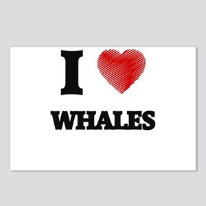 I love Whales Postcards (Package of 8)