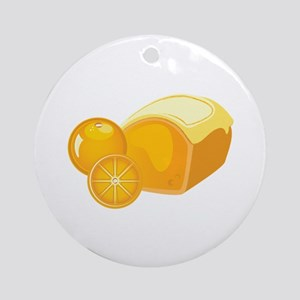 Orange Pound Cake Round Ornament
