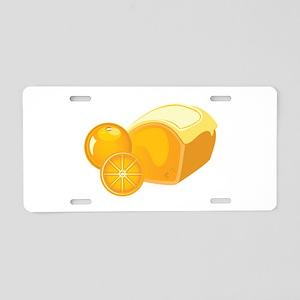Orange Pound Cake Aluminum License Plate