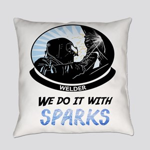 Welder We do it with Sparks Everyday Pillow