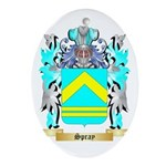 Spray Oval Ornament